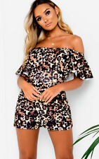 IKRUSH Womens Lois Off Shoulder Printed Playsuit