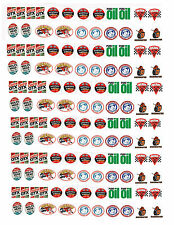 1:12 1:18 VINTAGE MOTOR OIL & TIRE DECALS FOR DIECAST & MODEL CARS & DIORAMAS