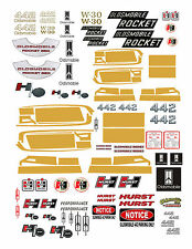 VINTAGE Oldsmobile Olds Decals 1:18 & 1:24 FOR DIECAST & MODEL CARS  DIORAMAS