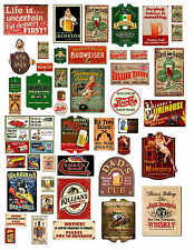 1: 24 1:18 VINTAGE BAR SIGNS 1 DECALS FOR DIECAST & MODEL CARS  DIORAMAS