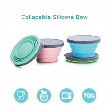 Collapsible Silicone Bowl Lunch Box with Lid Support Microwave Heating 700ML
