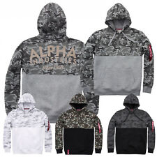 Alpha Industries Men's Hoody Camo Block Hoody S to 3XL New