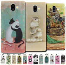 For Samsung Silicone Cover TPU Soft Case Gel Painted Rubber Back Various Skin