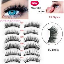 3D Magnetic False Eyelashes No Glue Handmade Natural Extension Eye Lashes Thick
