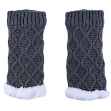 Women Winter Warm Leg Warmers Cable Knit Ladies Boot Cuff Ribbed Leg Warmers EG