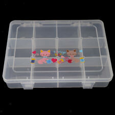 Multi Grid Clear Plastic Jewelry Box Storage Beads Organizer Container
