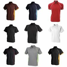 Finden & Hales Mens Piped Performance Sports Polo Shirt (RW427)