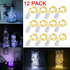 12x 20 LED 2m Waterproof LED MICRO Silver Copper Wire String Fairy Lights Decor