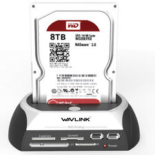 Wavlink SATA HDD Docking Station Enclosure with Multi Card Reader Slot for HDD