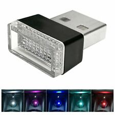 Universal USB Car Atmosphere LED Lights Cigarette Lighter Decorative Lights Lamp