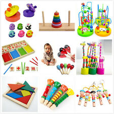 Wooden Toy Gift Baby Kids Intellectual Developmental Educational Early Learn 2Y