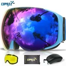 COPOZZ Magnetic Goggles with 2 Quick-change Lens and Case Set UV400 Protection A