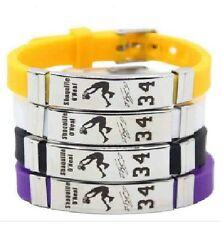 Shaqulle O'Neal Basketball Bracelet Silicone Stainless Steel adjustabl Wristband