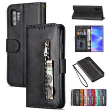 Leather Zipper Wallet Case Flip Stand Cover For Samsung Note 10 Plus S10 S9 A70