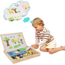 Cartoon Wooden Magnetic Puzzle Kids Jigsaw Drawing Board Educational Toys