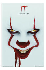 """LAMINATED IT Chapter 2 POSTER Pennywise Face Officially Licensed 24x36"""""""