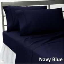 Comfort Duvet Collection 100% Cotton 1000 TC Select US Size Navy Blue Solid