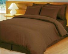 Comfort Duvet Collection 100% Cotton 1000 TC Select US Size Chocolate Striped