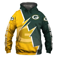 Green Bay Packers Hoodie Hooded Sweatshirt Coat Fashion Jacket Gift for Fans