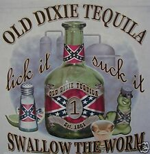 OLD DIXIE TEQUILA SWALLOW THE WORM BEER REBEL SHIRT