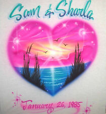 Personalized Airbrushed Heart T-shirt, w/ YOUR Name's
