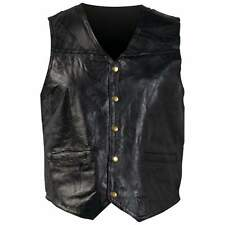 Genuine Leather Vest Motorcycle Vests