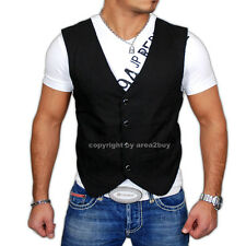 KICKDOWN DISCO PARTY T-SHIRT + WESTE 2in1 STYLE WEIß