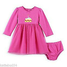 Carters 2pc Toddlers Birthday GIRL DRESS L/S Cake Pink Sz 24 Mos