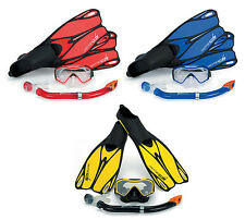 DIVE SET FLIPPERS MASK SNORKEL ALL SIZES / COLOURS NEW