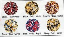 NEW 3 COLOR PLASTIC YOUTH POMS 4 PAIR minimum  CHEERLEADER CHEER many colors