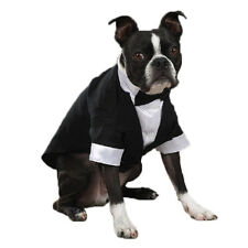 TUXEDO Dog Tux Groom Wedding Formal Clothes Bow Tie New