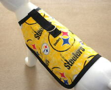 Dog Harness Clothes Made From NFL Yellow Pittsburgh Steelers Fabric