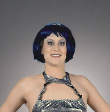 20's Funky Flapper 80's Punk Short Bob Red Blue Wig Hair Costume Accessory NEW