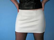 BNWT White fake leather mini skirt various lengths
