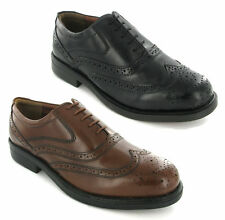 NEW MENS FORMAL LEATHER OXFORD BROGUES SHOES SIZE 6-14