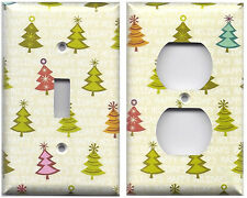 Holiday Shimmer Christmas Trees Happy Holidays Switch Plates & Outlet Covers