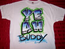 YEAH Buddy Jersey Shore Pauly D Airbrushed Funny T shirt Mens Tee