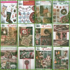 Simplicity Christmas Holiday Tree Trim Ornaments Garland Stocking Sewing Pattern