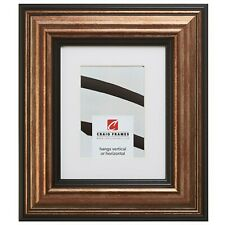 "Craig Frames Sonora, 3"" Aged Gold and Black Picture Frame"