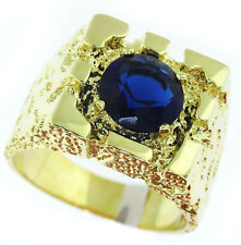 Mens Rampart  Montna Drak Blue Stone Gold Plated Ring