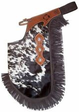 FANCY WESTERN GENUINE HAIR ON LEATHER HORSE SADDLE CHINKS CHAPS FOR WORK OR PLAY