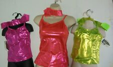 NWT DANCE TOPS CAMISOLE CHILD ADULT 4 COLORS  FOIL Metallic Spandex