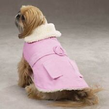 East Side Collection Sherpa Corduroy Dog Coats PINK BLUE LIMITED SIZES! HURRY!