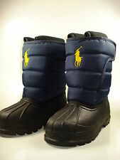 Polo Ralph Lauren Velcro Navy Snow boot 95411GS Boys Size Vancouver EZ