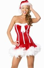 New Christmas Costume Sexy Mrs Santa Claus Dress Outfit