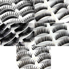 20 PAIRS THICK FLEXIBLE BLACK NATURAL FALSE FAKE EYELASH EYE LASHES SET