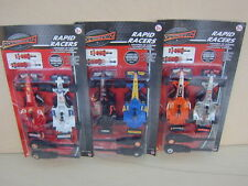 Rapid Racers.Racing Cars. 3 sets to choose from. New in factory sealed pack.