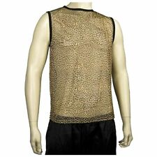 80's Heavy Metal Rock Def Leppard Journey Cheetah Leopard Print Tank Top Shirt