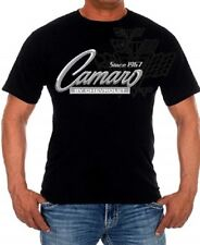 Chevrolet Camaro Racing T-shirt 2-sided Mens Cotton Black T-shirt