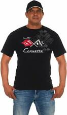 Corvette Racing T-shirt Black Cotton Mens 2-Sided Logo Shirt